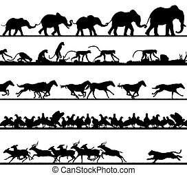 Animal foreground silhouettes
