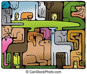 Animal Puzzle (vector)