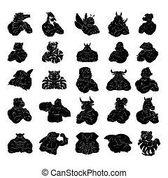 Animal Tattoo Big Set Collection