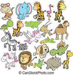 Animal Wildlife Vector Design Set