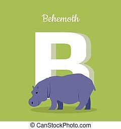 Animals Alphabet. Letter - B