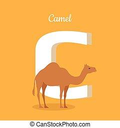 Animals Alphabet. Letter - C