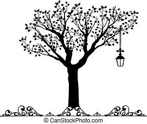 Antique ornament Vectors of a tree