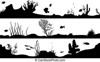 marine landscape set