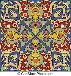 Arabesque Tile Pattern. Colors are easily editable.