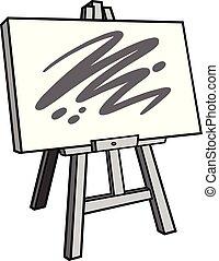 Art Easel Illustration