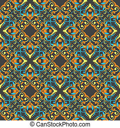 art vintage damask seamless pattern