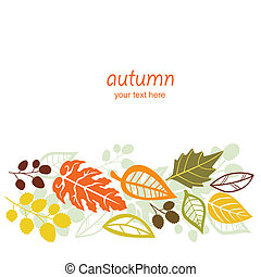 Autumn falling leaves background