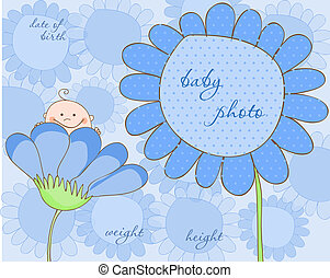 Baby Boy Arrival Frame for Photo