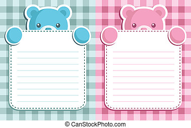 Vector invitation cards for a baby shower.