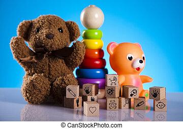 Colorful alphabet blocks, baby