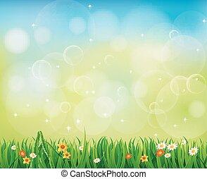 Background Green Grass