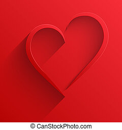 Background Heart Happy Valentines Day Card