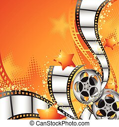 Background with Film Reels