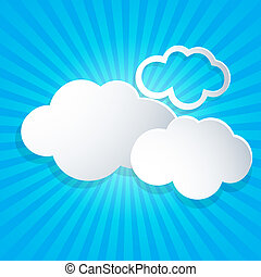 Background with white clouds
