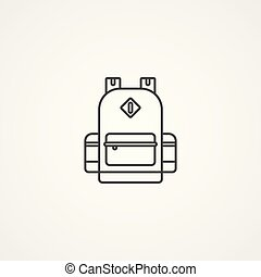 backpack vector icon sign symbol