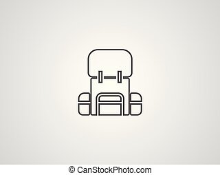Backpack vector icon