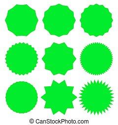 Badge, medal - Starburst, Sunburst Seal vector icon. Round, circle banner, Sticker and Vignette shape