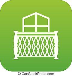 Balcony icon, simple style