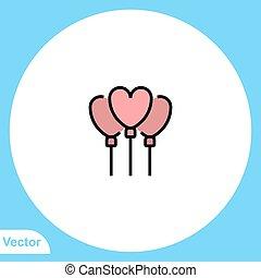 Balloon vector icon sign symbol