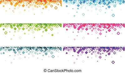 Banners set with geometric pattern.