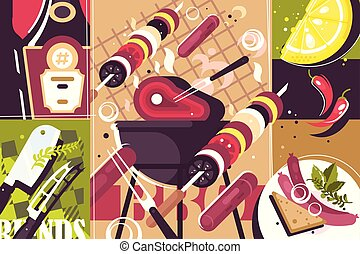 Barbecue abstract background