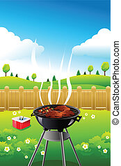 Barbeque party poster