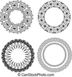 Baroque pattern of round