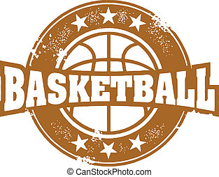 Basketball Sport Stamp