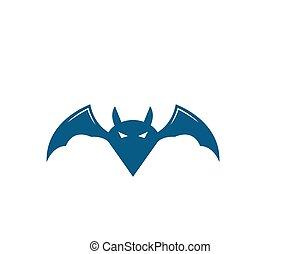 bat ilustration vector icon logo template