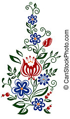 Beautiful floral element. flowers and leaves design element