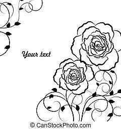 Beautiful floral pattern in black