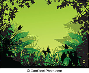 Vector illustration of beautiful nature background