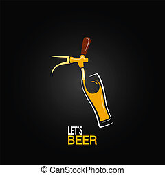 beer tap glass design background 8 eps