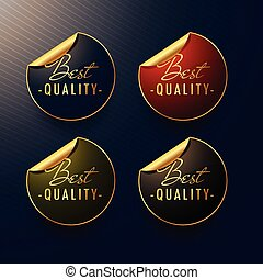 best quality golden stickers with page curl
