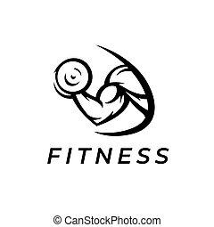 Bicep muscle gym logo