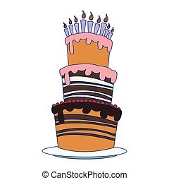 big birthday cake icon