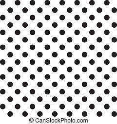 Large black polka dots seamless pattern on white background for albums, scrapbooks, decorating, arts, crafts. EPS includes pattern swatch that will seamlessly fill any shape.