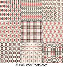 Big seamless patterns collection