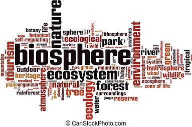 Biosphere word cloud concept. Vector illustration