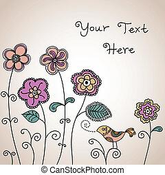 Bird Floral Background Color