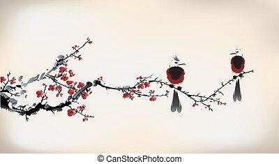 bird painting
