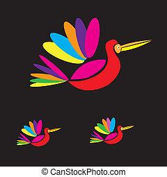 Birds multicolored