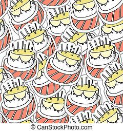 Birthday`s cake seamles background