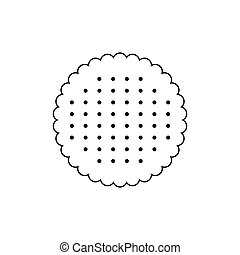 Biscuit vector icon isolated on white background