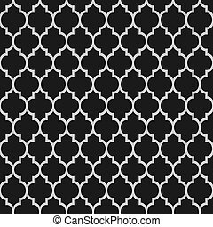Black and white islamic seamless pattern. Vector background