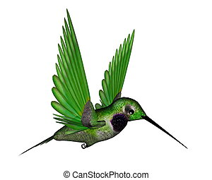 Black hummingbird - 3D render