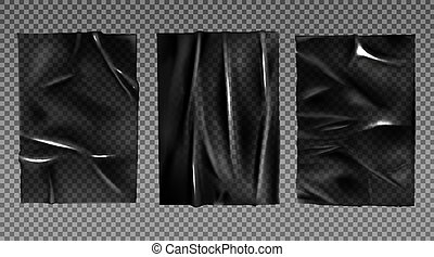 Black plastic stretched film for wrapping