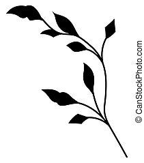 Black Shape Foliage Element