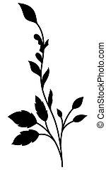 Black Swirl Floral Element Design